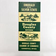 1955 Nevada Vintage Travel Brochure Douglas County NV Map Gardnerville