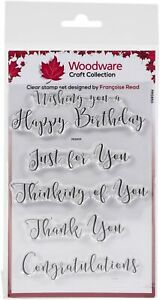 """Woodware Clear Stamps 4""""X6""""-Curly Greetings"""