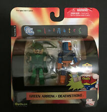 DC Mini Mates Green Arrow and Deathstroke 2006 Worlds Greatest Super Heroes