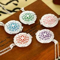 5Pads Locket Necklace Fragrance Aromatherapy Essential Oil Diffuser Pendant Gift