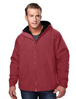 Tri-Mountain Men's Comfortable Fit Slash Pocket Hooded Shell Winter Jacket. 8480