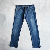 Mens LEE Powell Slim Fit Jeans Size W32 L32 Low waist Stretch denim Straight leg