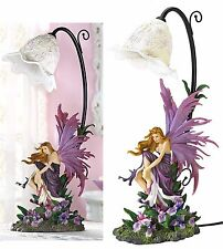 17 3/8' Tall ** ORCHID SCULPTED FAIRY TABLE DESK OR BEDSIDE LAMP ** NIB