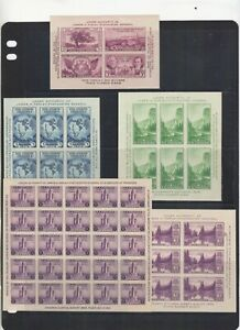 LOT OF MNH EARLY IMPERF SHEETLETS  NICE