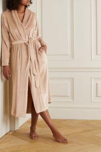 SKIMS Velour Women's Long Robe Sz M