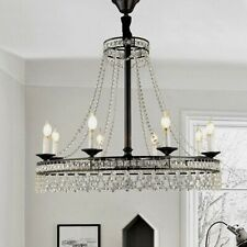 Modern Wagon Wheel Chandelier Crystal Chandelier 8-Light Candle Ceiling Fixture