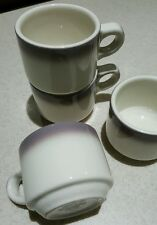 Rare Vintage Buffalo China Lavender Air Brushed Restaurant Ware Coffee Tea Cups