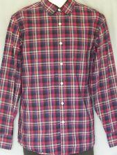 Claiborne Men's Shirt Long Sleeve 80's 2-Ply Button Down Casual Dress Plaid M