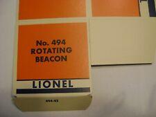 Lionel 494 Licensed Rotating Beacon Box w/corrugated insert