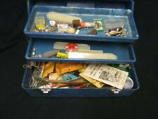 Vintage Ocean City Fiber Glass Tackle Box w/ Lures & Accessories