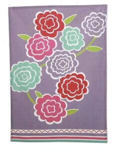"""TAG / Tag2U- ARIEL FLORAL - LILAC Purple- Cotton Dishtowel 18""""x 26""""-  NEW- NWT"""