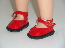 "Red Dress Shoes Fits American Girl 14.5"" Wellie Wisher Doll Clothes Shoes"