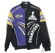 Baltimore Ravens NFL Super Bowl XLVII Champions Jacket Size 6XL Black Purple