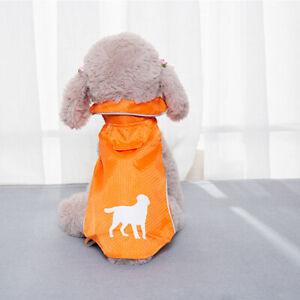 Pet Clothes Puppy Dog Cat Reflective Raincoat  Hoodie Jacket Costume Rain Coat ^