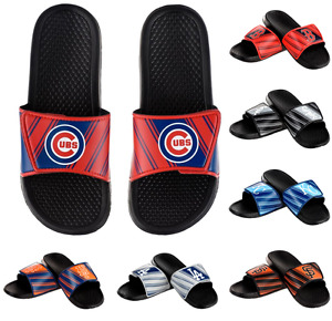 MLB Baseball Mens Legacy Logo Sport Slide Sandals Flip Flops - Choose Team