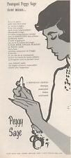 ▬► PUBLICITE ADVERTISING AD Peggy Sage René Gruau
