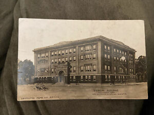1911 RPPC Photo Postcard--KANSAS--Hutchinson--Street SCene--Y.M.C.A. Building KS