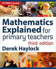 Mathematics Explained for Primary Teachers by Derek Haylock (Paperback, 2005)