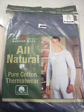Morgan Mills 2X 46-48 Blue Longjohn Pants Thermal Wear Mens Drawer Nos