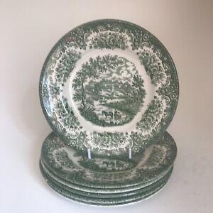 ENGLISH IRONSTONE Tableware 6x River Scenes Sandwich / Dessert Plates 17.5cm