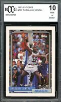 1992-93 Topps #362 Shaquille O'Neal Rookie Card BGS BCCG 10 Mint+