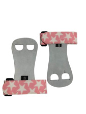 Push Athletic Gymnastics Youth Hand Grips (White star with Pink band, X-Large)