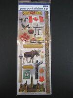 Canada Kananda Passport Sticker Set 20 tlg.,Souvenir Aufkleber für Fotoalbum,Neu