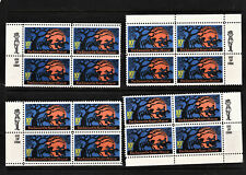 1974 Choice Zip Blocks 1548! Mnh Us Stamps! The Legend of Sleepy Hollow!