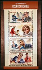 Congo Congo 7544-2018 George Michael Perf Sheet Of 4 Values Unmounted Africa