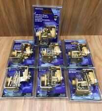 Hillman Lot Of 7 Brass Plated Cafe Door Hinges 851593