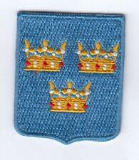 Schweden Wappen  Patch Aufnäher,Aufbügler,Konungariket Sverige,Sweden