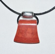 Silpada N0965 Sterling Silver 925 Cardinal Rule Sponge Coral Leather Necklace