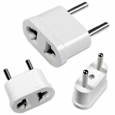 2X White Travel Charger Wall AC Power Plug Adapter Converter US to EU Europe Kj