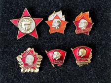 USSR Kids Youth Lenin Octobrist Pioneer Komsomol organizations 6 pin badges set