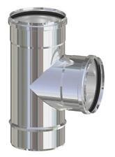 raccordo tubo a T deviazione acciaio inox Ø 8 cm 80 mm per stufa stufe pellet at