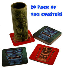 20 Pack of Tiki Bar Drink Cocktail Coasters - Tribal Outsider Design by TikiZone