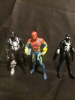 """ULTIMATE SPIDER-MAN 6"""" SLINGSHOTBLAST 2013 AGENT VENOM 2014 Black suit spiderman"""