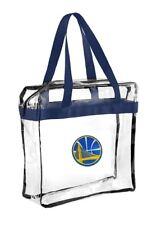 NBA Golden State Warriors Clear Zipper Messenger Tote Bag