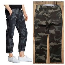 $98 Polo Ralph Lauren Stretch Straight Classic Fit Twill Pants Gray Camo 33 x 30