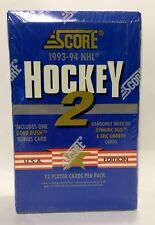 1993 Score series 2 NHL Hockey Card Box 36 packs Factory Sealed