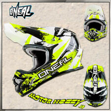 CASCO CROSS ENDURO MOTARD O'NEAL ONEAL SERIE 3 SHOCKER GAILLO FLUO TAGLIA M