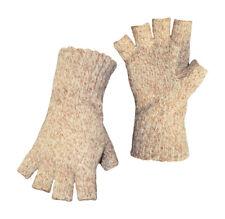Boss  Unisex  Indoor/Outdoor  Rag Wool  Half Finger Glove  Brown  L