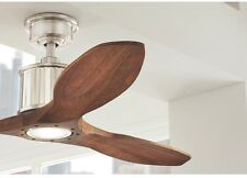 Indoor Ceiling Fan 52 Inch LED Brushed Nickel Cherry Wood Airplane Propeller