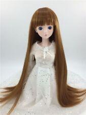 "New 1/6 Girl BJD  Doll Wig Dollfie 6"" DZ DOD LUTS Bjd Doll Wig Long SD Wig Brown"