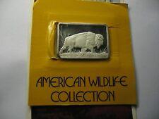 Bison Buffalo Hamilton 1976 Very Rare 999 Silver Bar Coin Paper Sealed 250 Made