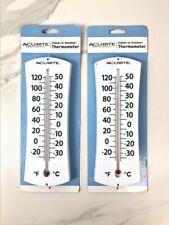 Acurite Indoor Outdoor Large Thermometer Celsius & Farhenheit Temp Lot Of 2