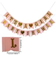 Its A Girl Baby Shower Banner Pink Paper Decorations Party Supplies Babyshower