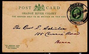 Orange River Colony Postcard Durban Natal 07.06.1916 King Edward VII
