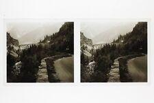Ligne St Gervais Chamonix Mont-Blanc France Photo E53 Stereo Plaque verre 1927