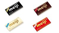 Meiji, Chocolate, 4 kinds, Milk, Hi Milk, White & Black, Long-sellers, 50g Japan